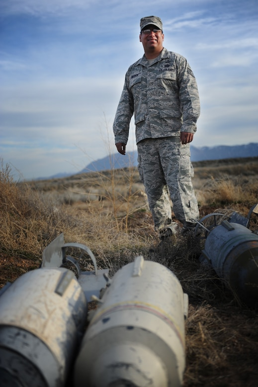 Tech. Sgt. Gabriel Wasnuk, an explosive ordnance technician with the 775th EOD flight at Hill AFB, Utah is set to receive a purple heart March 25 for brain injuries sustained during combat deployments to Iraq and Afghanistan. (U.S. Air Force/Micah Garbarino)
