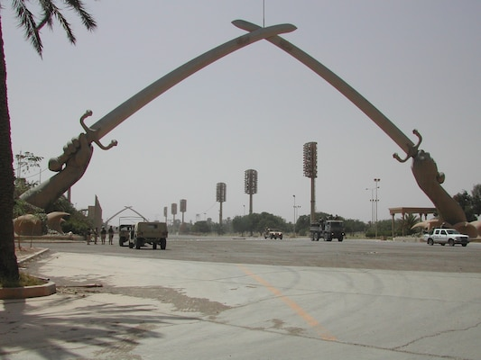 The Swords of Qadisiyah in Central Baghdad, Iraq.