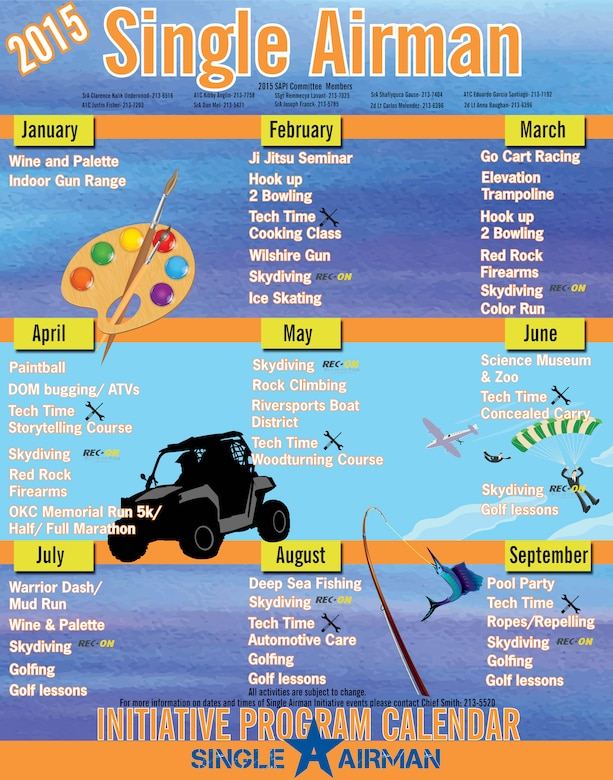 Single Airman events calendar. (courtesy graphic)