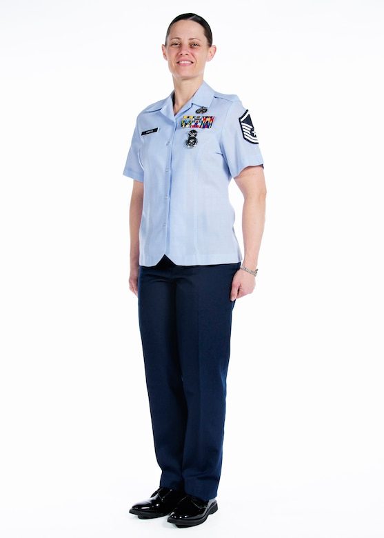 Official portrait of Master Sgt. Olivia M. McMahon, 108th Wing, New Jersey Air National Guard, Joint Base McGuire-Dix-Lakehurst, N.J., for NJANG Airman of the Year competition, Jan. 11, 2015. (U.S. Air National Guard photo by Tech. Sgt. Carl Clegg/Released)