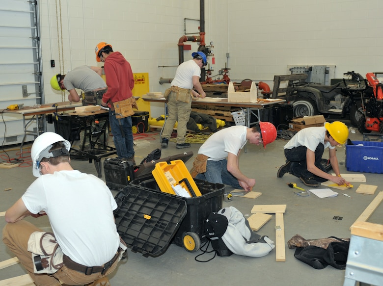 Students from Capital Region BOCES (Board of Cooperative Educational Services), Questar III, Washington-Saratoga-Warren-Hamilton-Essex BOCES and beyond were at Stratton Air National Guard Base, New York, on March 18 to compete in the regional SkillsUSA competition. The students tested their skills in carpentry, vehicle maintenance, heavy equipment operation, welding, nursing and more. They first took a written test on their general knowledge of their specialized subject, and then went on to the hands-on portion of the competition. (U.S. Air National Guard photo by Master Sgt. William Gizara/Released)