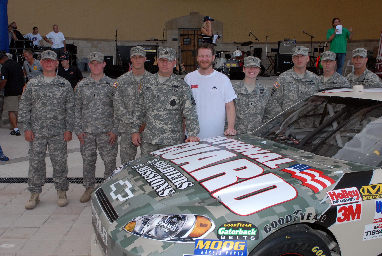 Dale Jr., Guardsmen unveil paint scheme for Daytona NASCAR ...