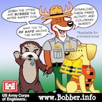 Bobber activity and coloring sheet ad