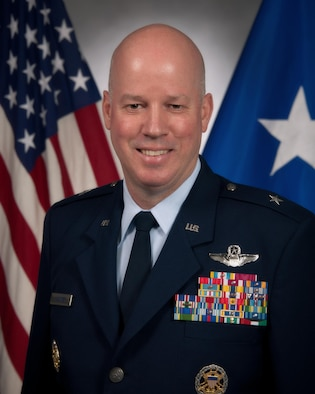 Maxwell AFB, Ala. - Official portrait of Brigadier General Paul Guemmer, Commander, Jeanne M. Holm Center for Officer Accessions and Citizen Development, Maxwell Air Force Base, Alabama. Photo taken March 3, 2015.  (US Air Force photo by Melanie Rodgers Cox)