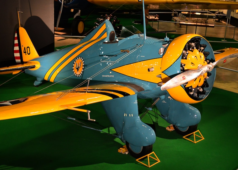 DAYTON, Ohio -- Boeing P-26A on display in the Early Years Gallery at the National Museum of the United States Air Force. (U.S. Air Force photo by Ken LaRock)