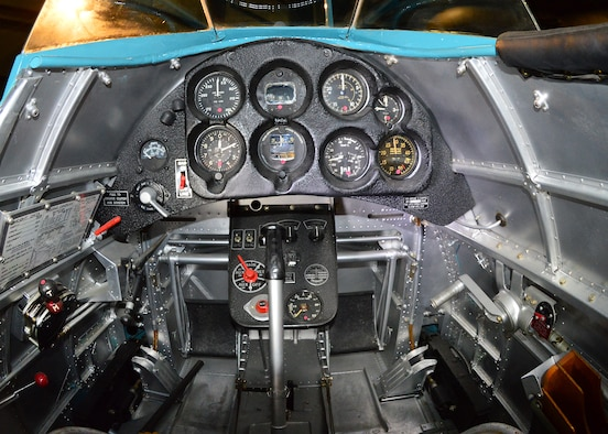 DAYTON, Ohio -- Boeing P-26A cockpit in the Early Years Gallery at the National Museum of the United States Air Force. (U.S. Air Force photo by Ken LaRock)