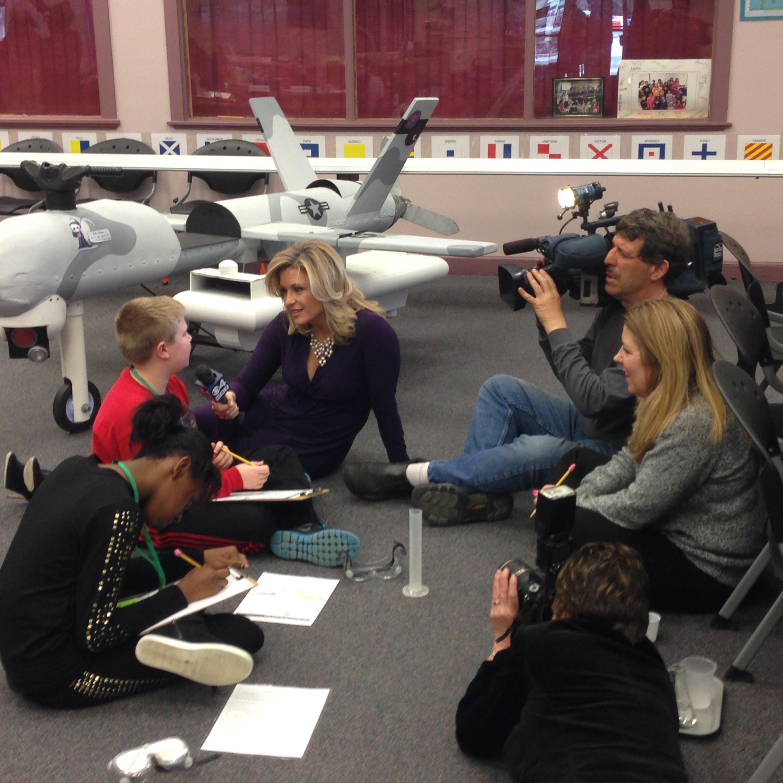 Boston news team covers Hanscom STARBASE > Hanscom Air Force