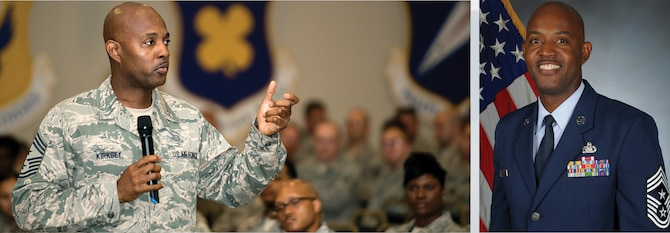 Chief Master Sgt. Cameron B. Kirksey, command chief master sergeant, Air Force Reserve Command.