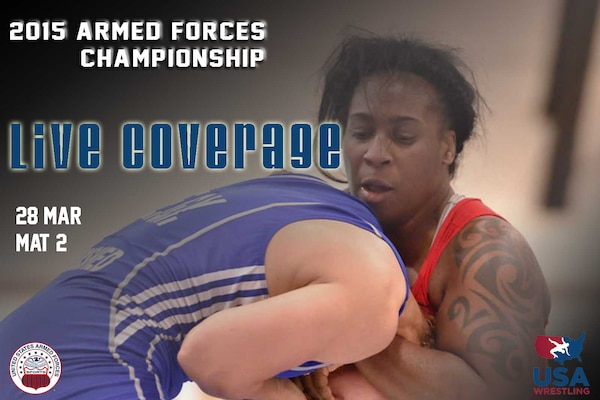 Armed Forces Championships Live - Day 2 Mat 2 Scheduled for Mar 28, 2015  Live stream of mat 2 of the 2015 Armed Forces Championships at Fort Carson in Colorado Springs, Colo. on March 28.   https://www.youtube.com/watch?v=uU6loBBnrew