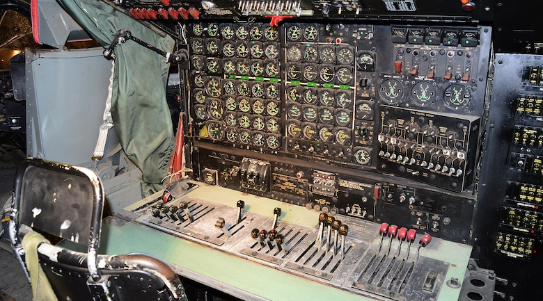 DAYTON, Ohio - Douglas C-124C Globemaster II cockpit in the Korean War Gallery  at the National Museum of the U.S. Air Force. (U.S. Air Force photo)