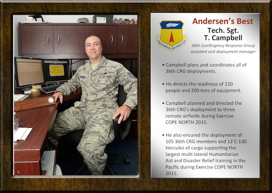 Team Andersen's Best Tech. Sgt. T. Campbell