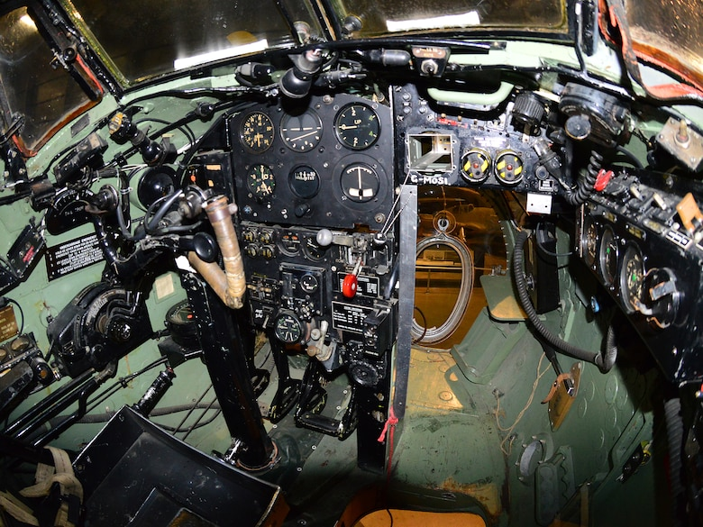DAYTON, Ohio - De Havilland DH 98 cockpit in the WWII Gallery at the National Museum of the U.S. Air Force. (U.S. Air Force photo by Ken LaRock)