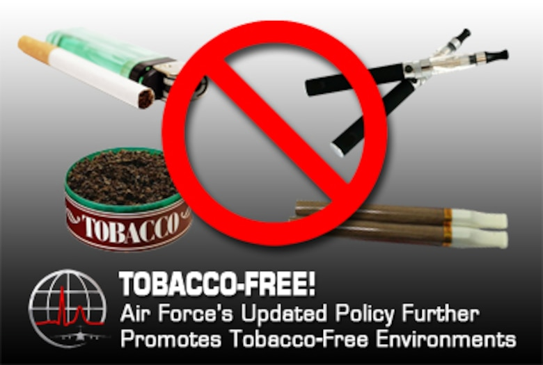 Air Force policy promotes tobacco-free environments (U.S. Air Force graphic by Steve Thompson)