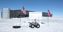 The Yeti rover at the South Pole.