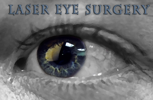 Laser eye surgery is becoming an increasingly popular treatment method for Airmen. Refractive surgeries, better known as LASIK and PRK are fully covered for Airmen meeting procedure requirements. (U.S. Air Force photo illustration/Airman 1st Class Collin Schmidt)