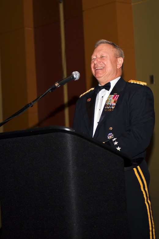 U.S. Army Gen. Frank J. Grass, Chief of the National Guard Bureau, attended the Ohio National Guard Association and Ohio National Guard Enlisted Association Spring Dinner Dance, Columbus, Ohio, April 25, 2015. Gen. Grass was the guest speaker at the event which is held annually for association members in both the Air and Army National Guard. (U.S. National Guard photo by Senior Airman Wendy Kuhn/Released)