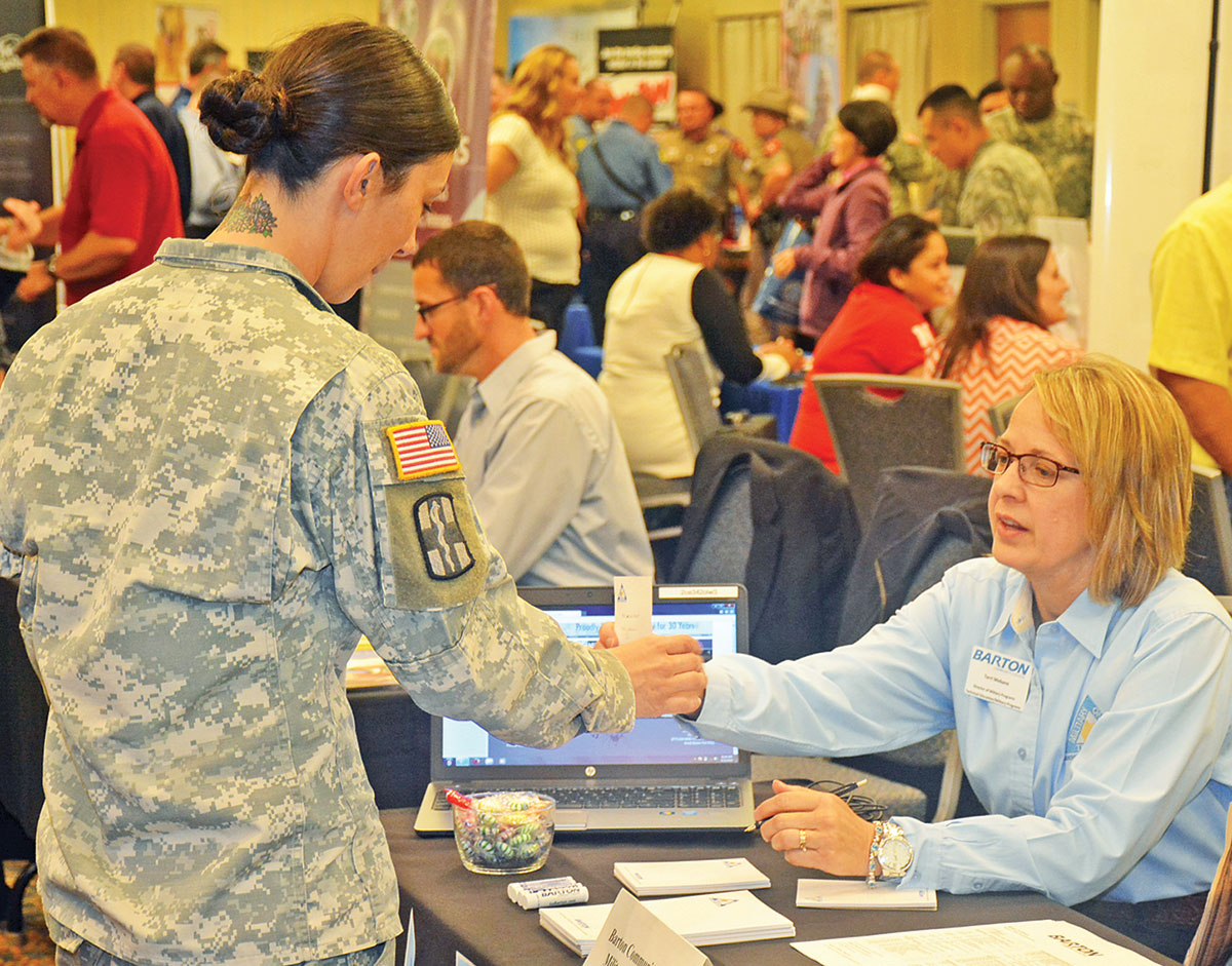 employers hire more than heroes during annual career fair employers hire more than 250 heroes during annual career fair