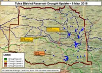 As of April 28, approximately 37 percent of the lower 48 states remained in some level of drought. Tulsa District varied from normal conditions in some eastern areas to the exceptional drought level in western portions.