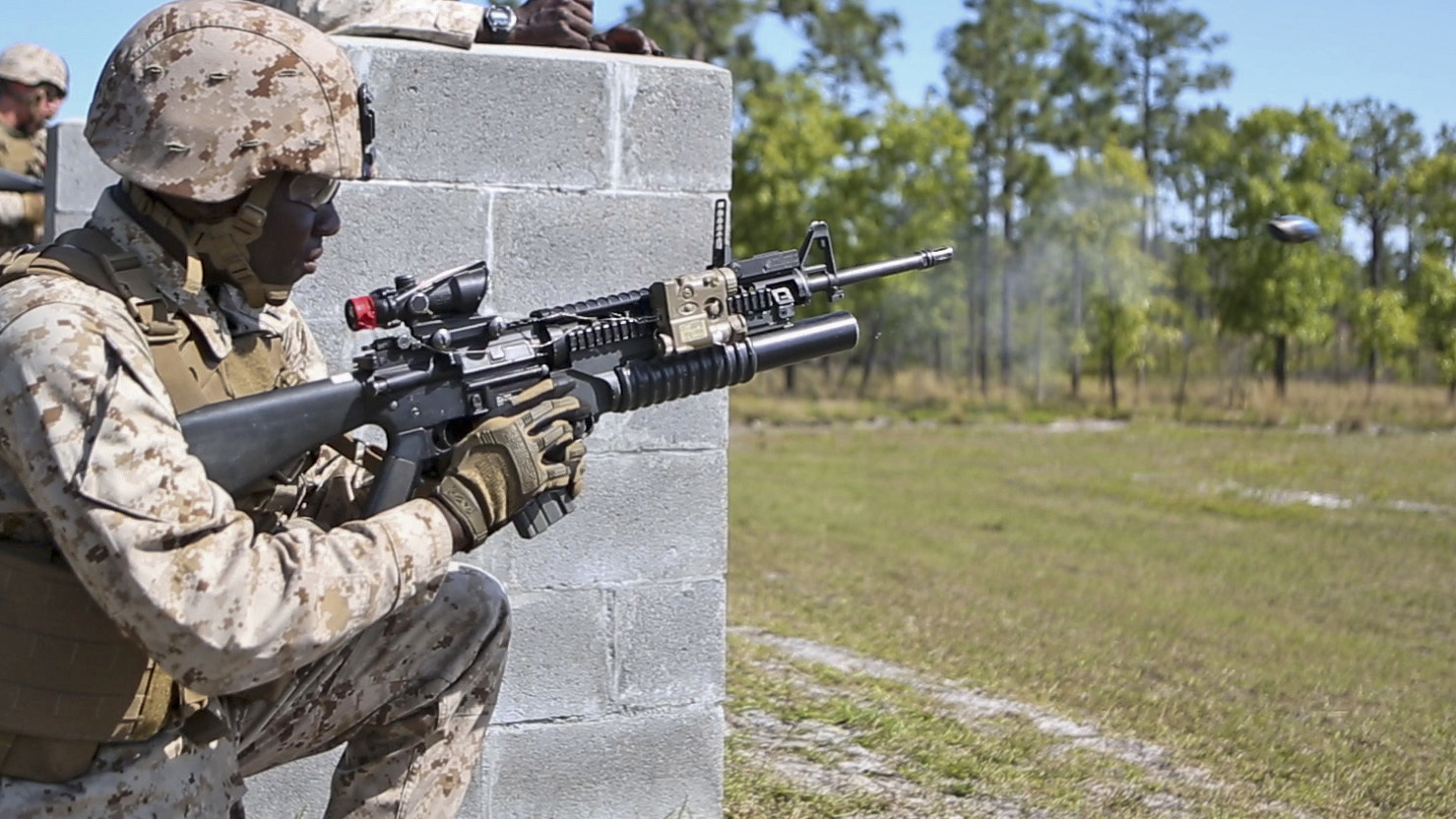 marines qualify with m203 grenade launcher the official united
