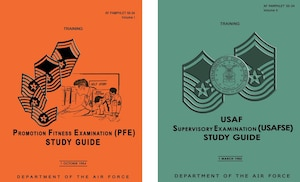 1984 & 1985 Enlisted Study Guide Covers