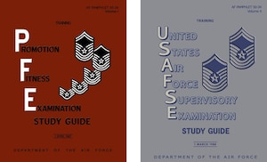 1987 & 1988 Enlisted Study Guide Covers