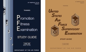 1990 & 1991 Enlisted Study Guide Covers