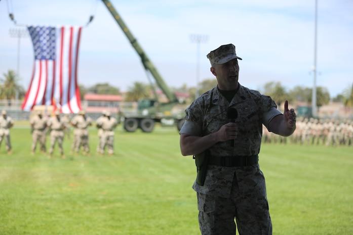 Battalion Sergeant Major, Sergeant Major William J. Gwaltney.