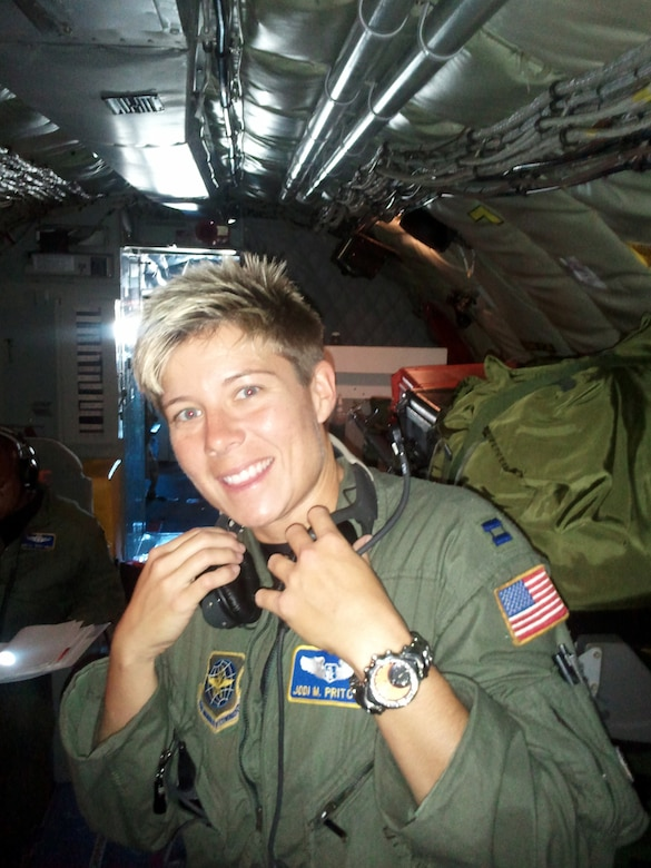 West Virginia Air National Guard Capt. Jodi Pritchard helped to save a car crash victim on Dec. 5, 2010.