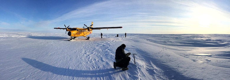 Airmen with the 109th Airlift Wing put together a reconnaissance team March 24, 2015, to determine if they would be able to prepare a ski-way for an LC-130 in the vicinity of Victoria Strait. A few weeks later, a team of seven 109th AW Airmen were able to groom a ski-way for LC-130 operation in support of Canada's annual Operation Nunalivut. (U.S. Air National Guard photo by Maj. Matthew Sala/Released)