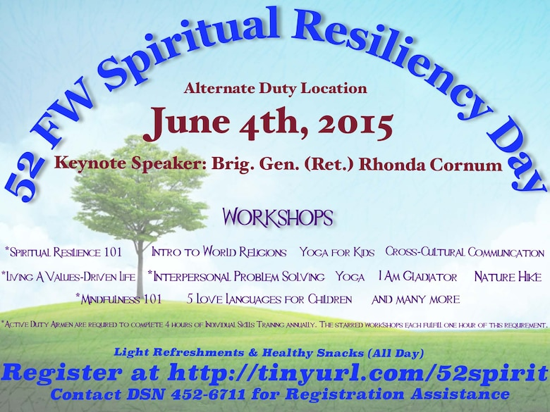Spiritual Resiliency Day encourages total-person concept