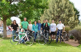 ALBUQUERQUE, N.M. -- Several District employees participated in National Bike to Work Day, May 15, 2015.