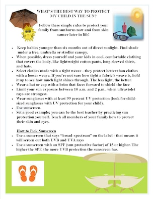 Informational flyer provided by the 319th Medical Group on Grand Forks Air Force Base, N.D.