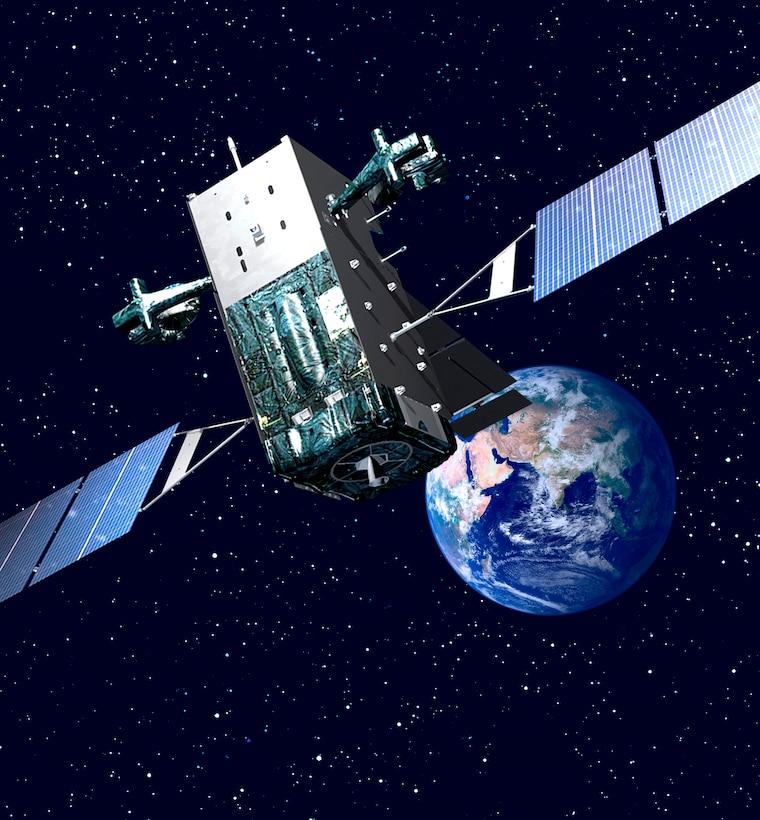 Photo of SBIRS courtesy of Lockheed