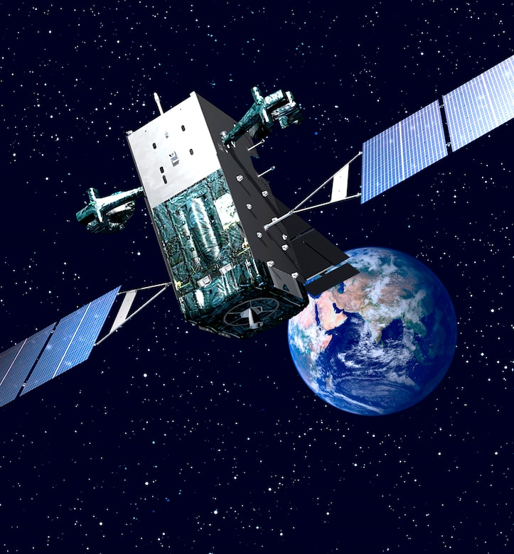 Photo of SBIRS courtesy of Lockheed