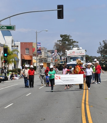 Members of the Los Angeles District participate in the 56th Annual Torrance Armed Forces Day parade May 17.