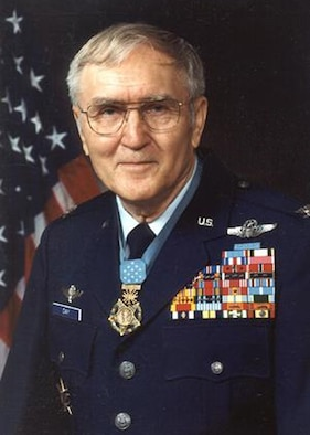 "George Everett ""Bud"" Day is a retired U.S. Air Force Colonel and Command Pilot who served during the Vietnam War. He is often cited as being the most decorated U.S. service member since General Douglas MacArthur, having received some seventy decorations, a majority for actions in combat. (Courtesy photo)"