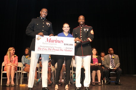 (From left to Right)  Capt. Ronnie D. Jones, Raven Chapman and Staff Sgt.