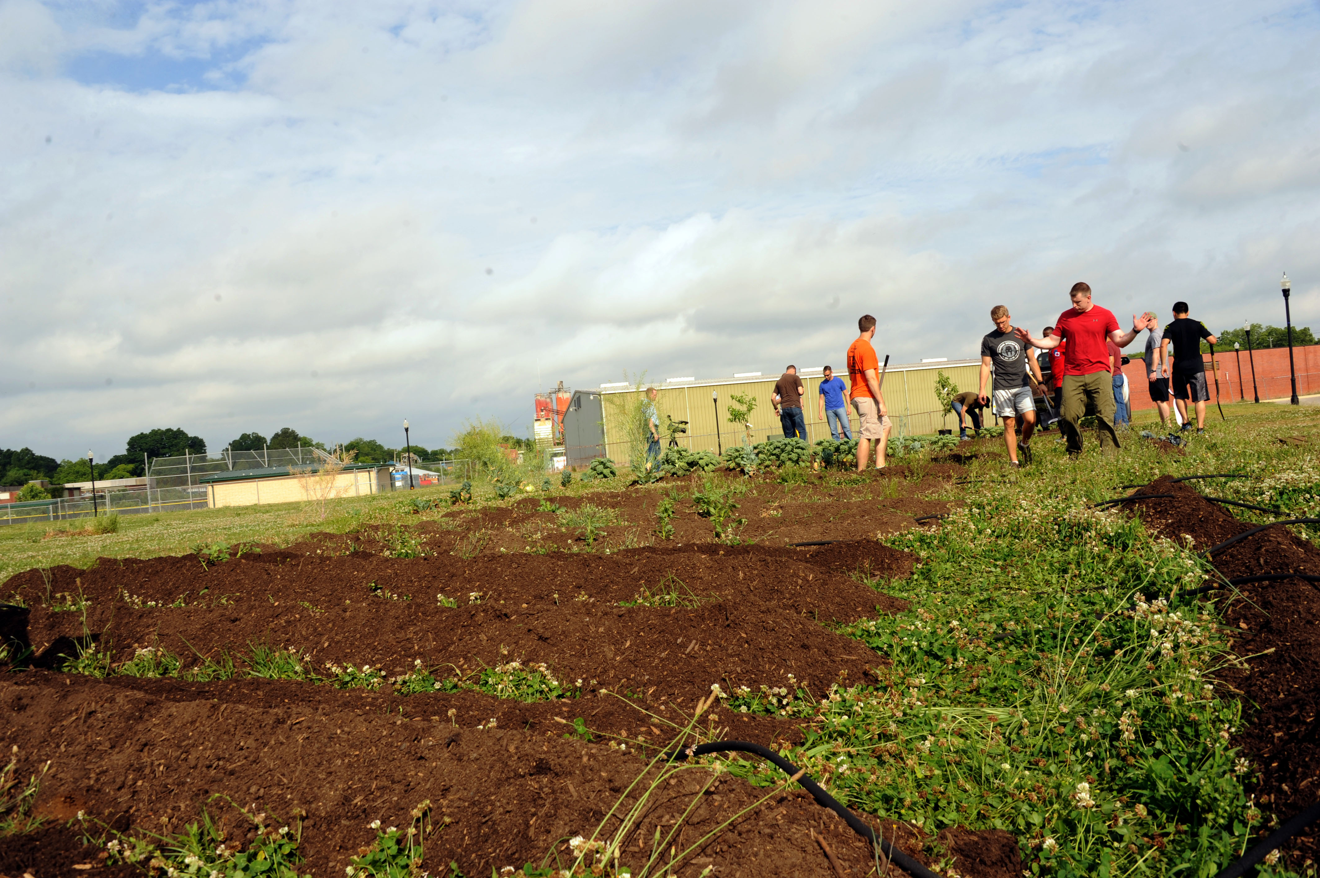 SOS students build garden for local high school > Maxwell Air Force ...