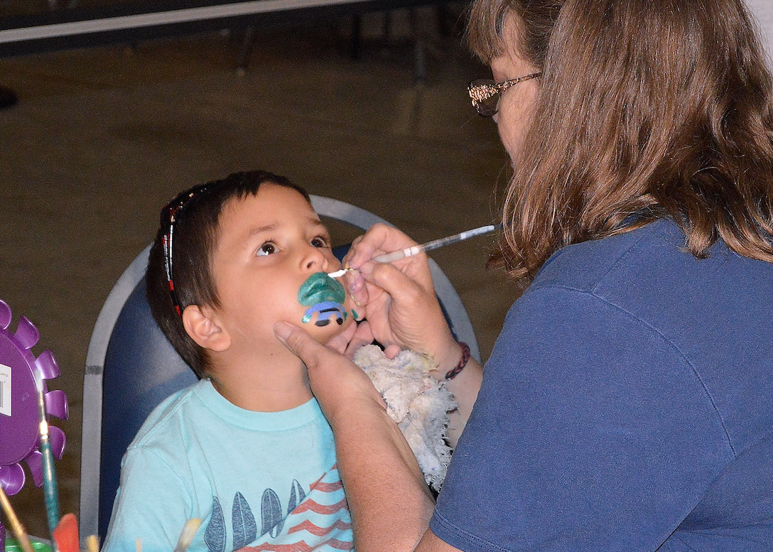 DAYTON, Ohio (05/2015) -- Participants enjoyed a number of hands-on activities including face painting during Space Fest on May 15-16 at the National Museum of the U.S. Air Force. (U.S. Air Force photo)