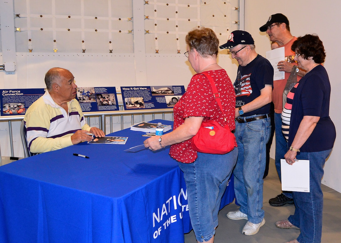 DAYTON, Ohio (05/2015) -- Former Astronaut Col. (Ret.) Frederick D. Gregory signs autographs during Space Fest on May 15-16 at the National Museum of the U.S. Air Force. (U.S. Air Force photo)