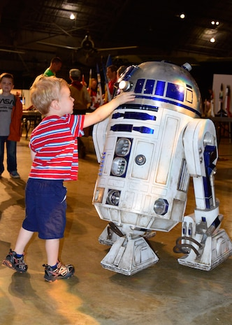 DAYTON, Ohio (05/2015) -- Special roaming characters including R2-D2 participated in Space Fest on May 15-16 at the National Museum of the U.S. Air Force. (U.S. Air Force photo)