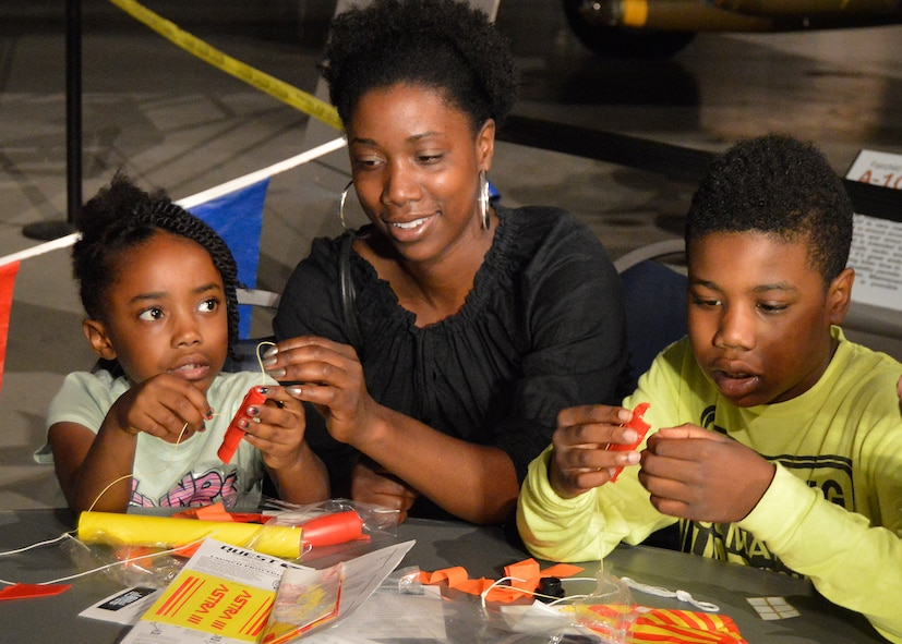 DAYTON, Ohio (05/2015) -- Participants enjoyed a number of hands-on activities during Space Fest on May 15-16 at the National Museum of the U.S. Air Force. (U.S. Air Force photo by Ken LaRock)