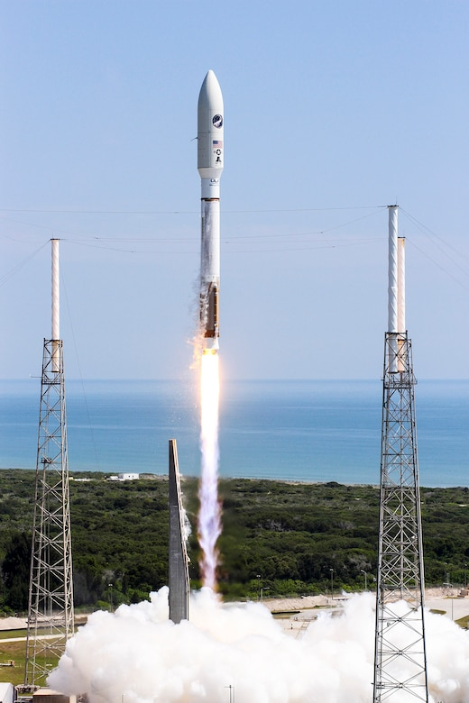 An Atlas V rocket successfully launches the AFSPC-5 mission from Cape Canaveral AFS's Space Launch Complex-41, May 20. (Photo courtesy of ULA)