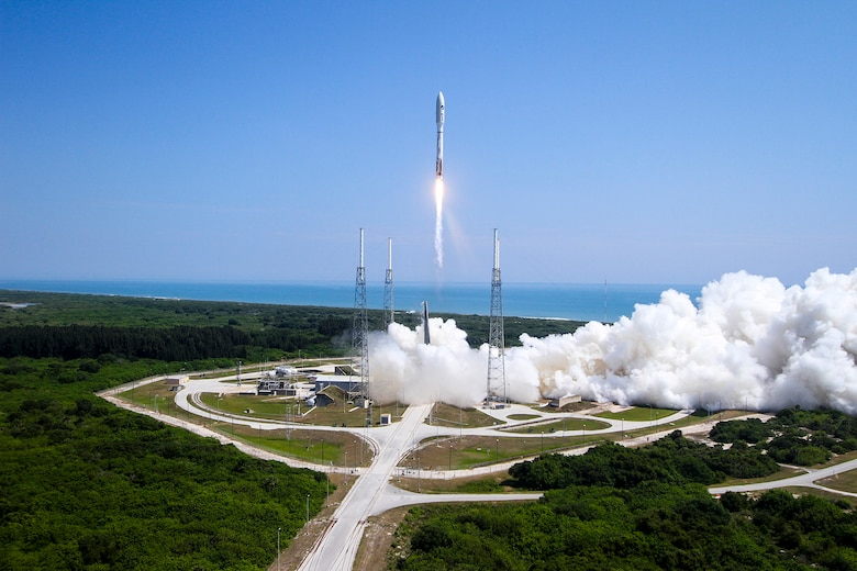 The 45th Space Wing successfully launched a United Launch Alliance-built Atlas V Evolved Expendable Launch Vehicle at 11:05 a.m. EDT, May 20, 2015, from Space Launch Complex 41 at Cape Canaveral Air Force Station, Fla. The Atlas V rocket carried into Low Earth Orbit an X-37B Orbital Test Vehicle (OTV), marking the fourth space flight for the X-37B program. (Photo/United Launch Alliance)