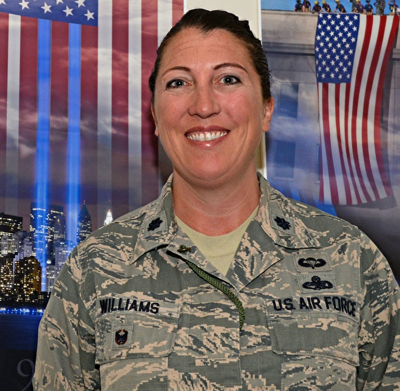Lt. Col. Sarah Williams, 9th Maintenance Group deputy commander, poses for a photo May 11, 2015, at Beale Air Force Base, Calif. (U.S. Air Force photo by Airman 1st Class Ramon A. Adelan/Released)