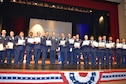 NAVAL AIR STATION FORT WORTH JOINT RESERVE BASE, Texas -- Maj. Gen. Richard Scobee, 10th Air Force commander, presented nearly 40 Air Force Junior Reserve Officer Training Corps awards May 8 to Eagle Mountain-Saginaw Independent School District cadets during their 5th Annual Awards Ceremony at Saginaw High School, Saginaw, Texas. After the general delivered an engaging and motivating speech, he personally recognized each cadet on their accomplishments for their annual and national sponsored awards. (Courtesy photos)