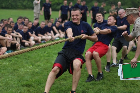 Marines from Recruiting Station Indianapolis hosted their annual statewide pool function in Indianapolis, Indiana May 16, 2015. The young men and woman train to become the next generation of America's tough, smart and elite warriors by preparing their minds and bodies for the rigors of Marine Corps recruit training.