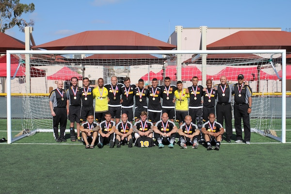Army captures Armed Forces Soccer Gold held at MCAS Miramar, Calif. 12-21 May 2015.