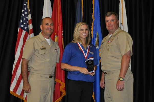 SrA Tonya Criss, JB Andrews, MD receives women's silver medal at the 2015 Armed Forces Bowling Championship held at NAS Jacksonville, Fla. from 11-18 May