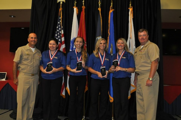 Air Forces women's silver medal team at the 2015 Armed Forces Bowling Championship held at NAS Jacksonville, Fla. from 11-18 May